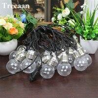 Trecaan EU US Plug 5M 20LED Light Bulb String Lights Christmas Wedding Party Garland Decoration Clear