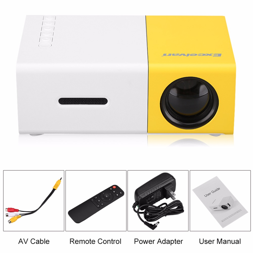 excelvan yg300 mini portable projector lcd proyector hdmi usb av sd rh aliexpress com LCD Projector Screen Best LCD Projector