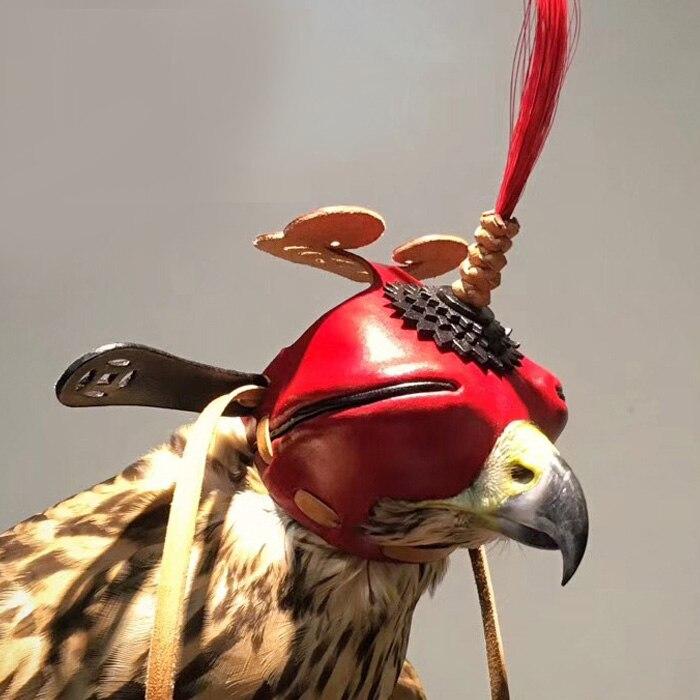 Couvre-chef Shantou traditionnel Patch pour les yeux yeux oeillères fauconnerie chasse tactique faucon faucon cerf-volant noir chapeau ailé