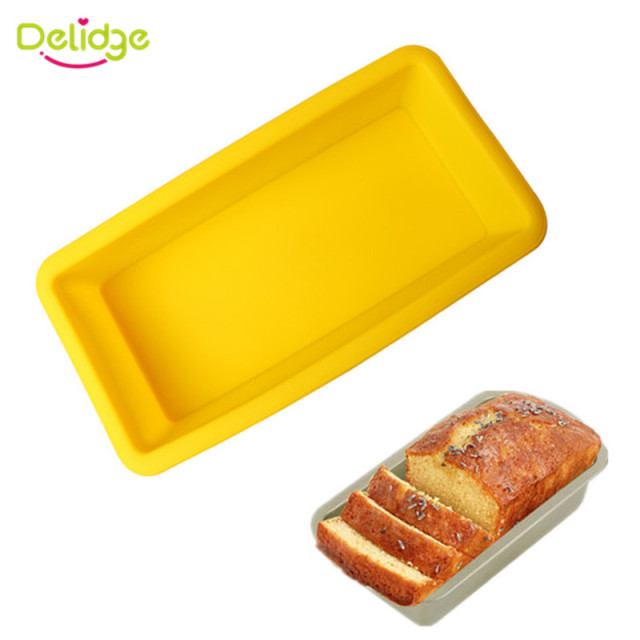 Delidge 1PC Rectangular Silicone Cake Mold 3D Fondant Bread Soap ...
