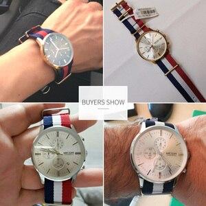 Image 5 - MEGIR מקורי גברים שעון נשים שעונים אופנה ספורט קוורץ שעונים בד רצועת שעוני יד Relogio Masculino שעון גברים 2011