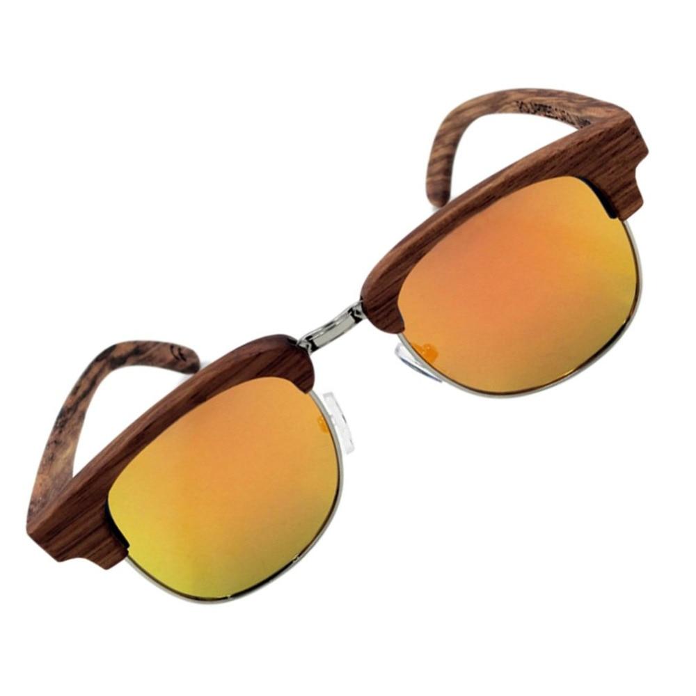 da323f89a3187 Unisex Wooden Leg Zebrawood Frame Half rimless Glasses Polarized Sunglasses  Men Oculos De Sol with gray brown orange Accessories-in Sunglasses from  Apparel ...