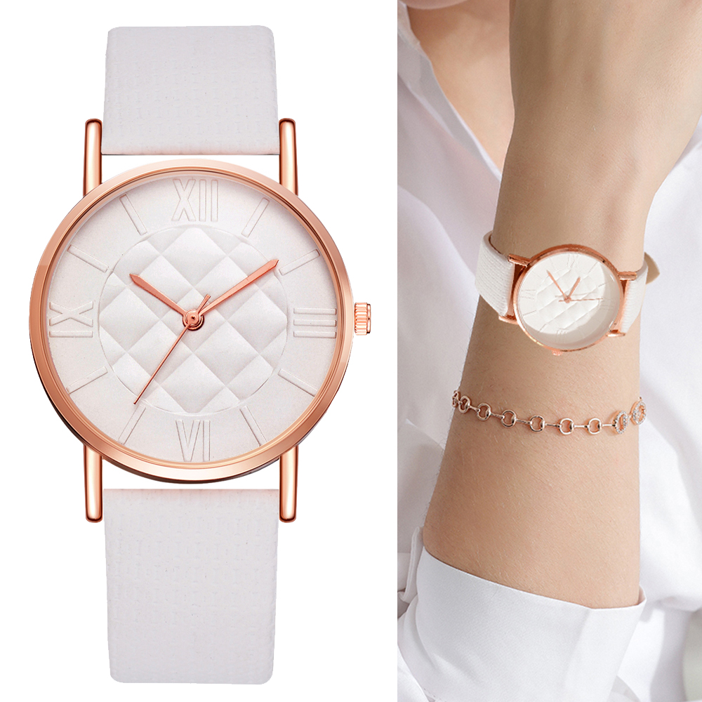 Fashion Women Watch Leather Band Dress Quartz Wrist Watches Luxury Brand White Casual Sport Ladies Wristwatch Relogio Feminino
