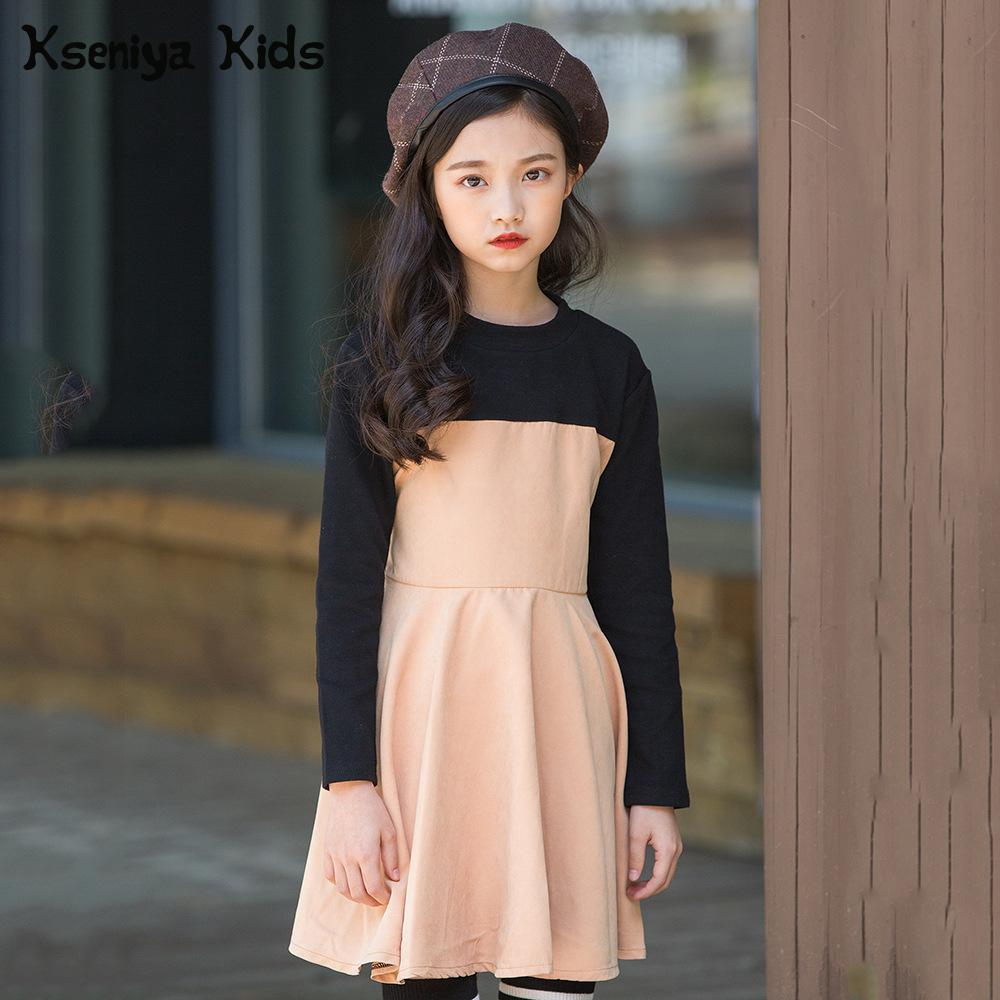 Kseniya Kids Autumn Big Girl Teenagers Young Girls 6 14 Years Formal Dress Party Wedding Princess Long Sleeve Dress For Girl