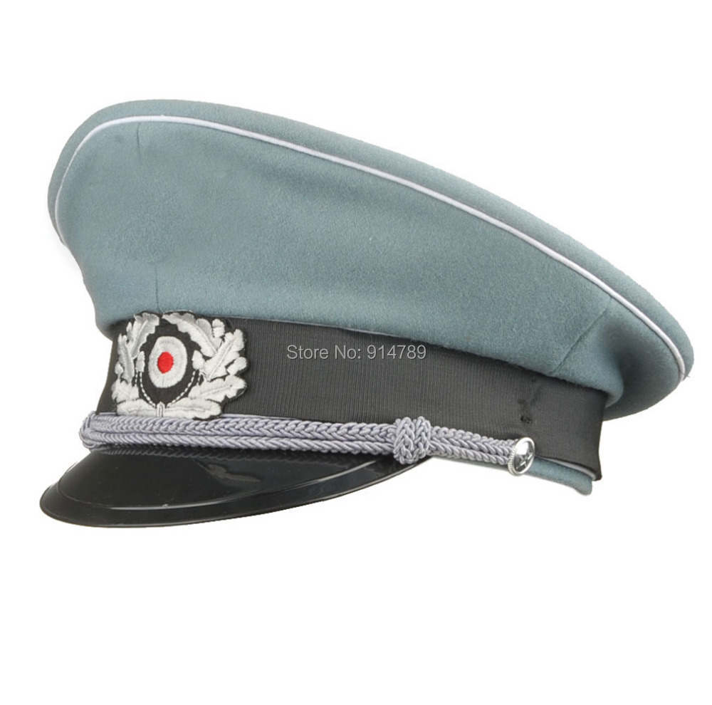 74315554327 WW2 GERMAN WH M36 OFFICER WOOL CRUSHER CAP WITH CHIN CORD SIZE XL 34176-in Military  Hats from Apparel Accessories on Aliexpress.com