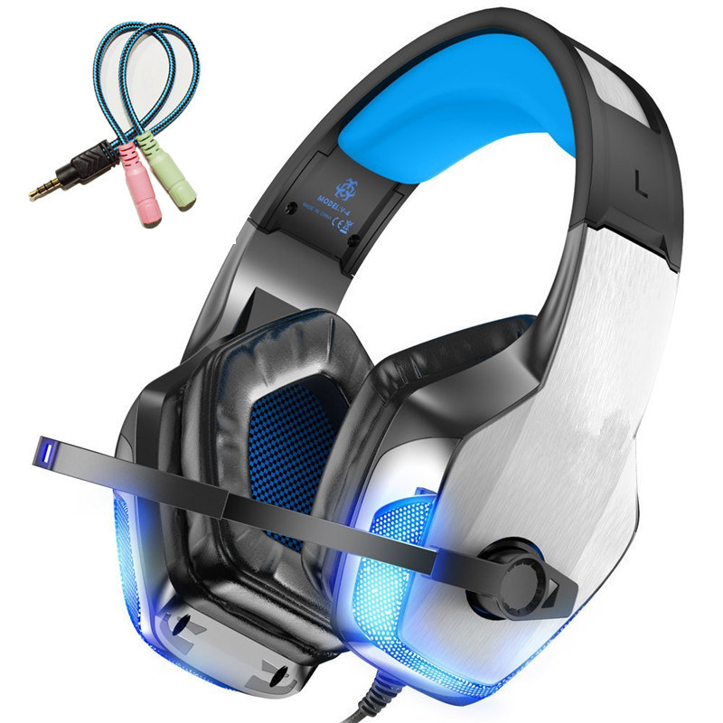 KOTION EACH wired Gaming Headset Stereo Hifi gaming Headphones casque With Microphone Led Light For PS4 PC Computer Gamer fones