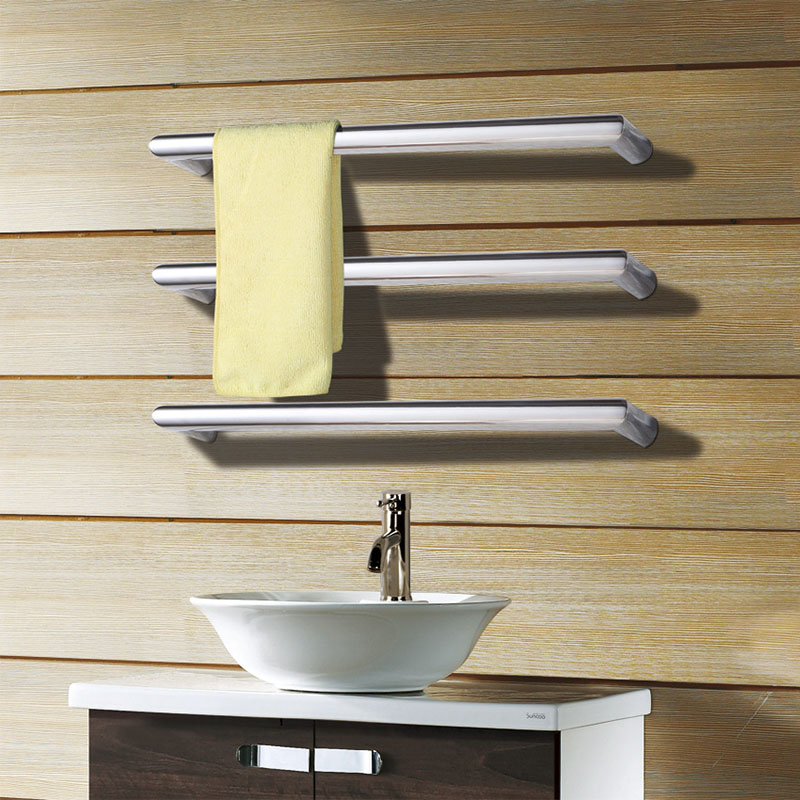 Free Shipping Single bar 304 stainless steel electric towel warmers rail heated towel rack with best quality and price HZ-923