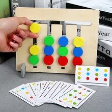 Montessori zabawki kolory i owoce dwustronne dopasowanie gry logiczne rozumowanie szkolenia zabawki edukacyjne dla dzieci dzieci drewniane zabawki