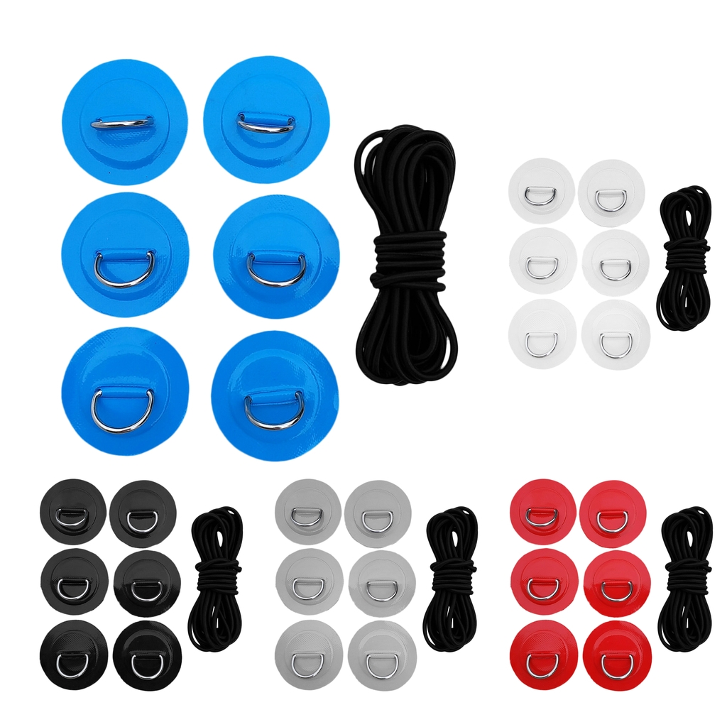 1 Set Stand Up Paddleboard SUP Bungee Deck Rigging Kit D-ring Pad Patch Deck Attachment Kit Kayak Canoe Dinghy Accessories