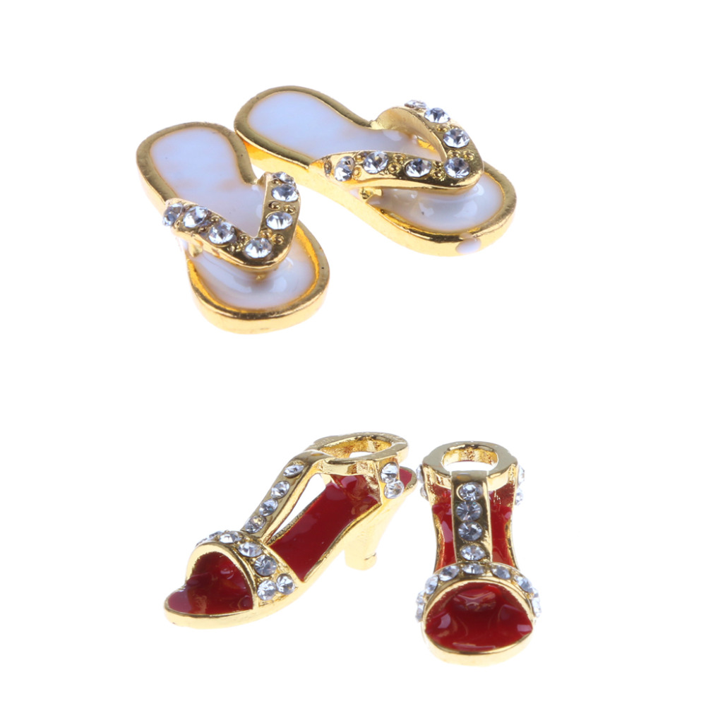 1:12 Dolls House Accessories Decor Dollhouse Miniature Metal Slippers Shoes Pretend Play Classic Toys For Kids Girl Gift