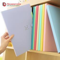 Новинка 4 цвета A4 Kawaii Carpetas улыбка Водонепроницаемый карпетский файл папку 5 слоев Archivadores Anillas документ сумка канцелярские принадлежности