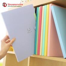 New 4 Color A4 Kawaii Carpetas Smile Waterproof Carpeta File Folder 5 Layers Archivadores Anillas Document Bag Office Stationery smile face file bag