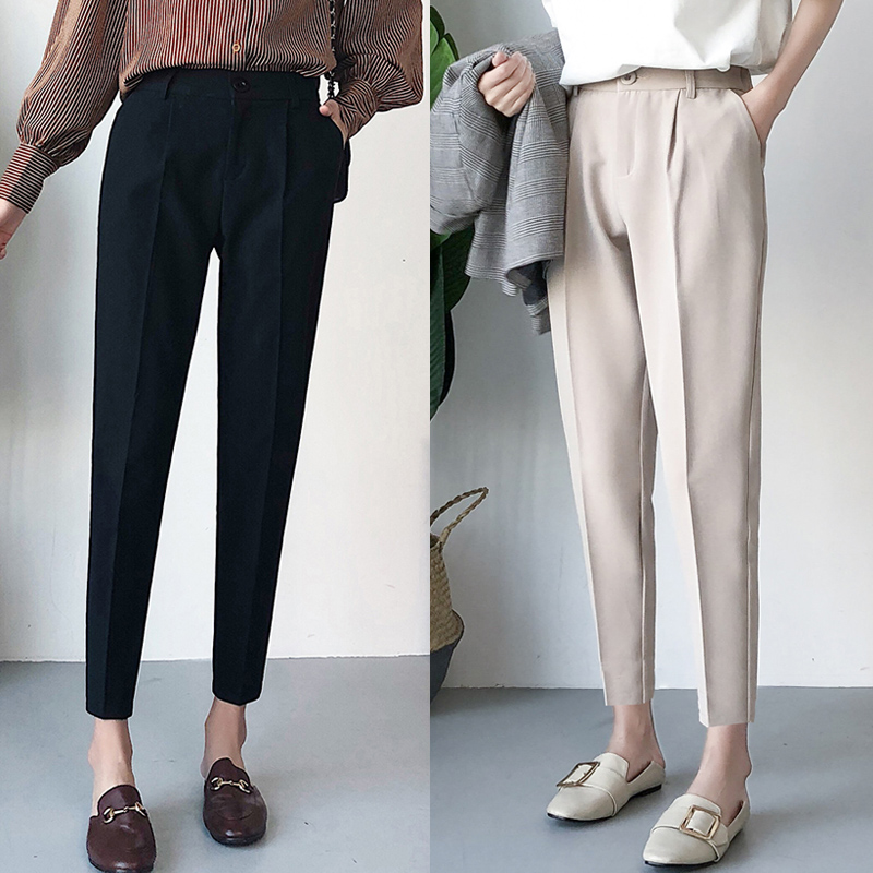 2019 New Winter Autumn Pants High Waist Women's Pencil Pants Casual Solid Harem Pants Female Warm Female Long Trousers Hot Sale