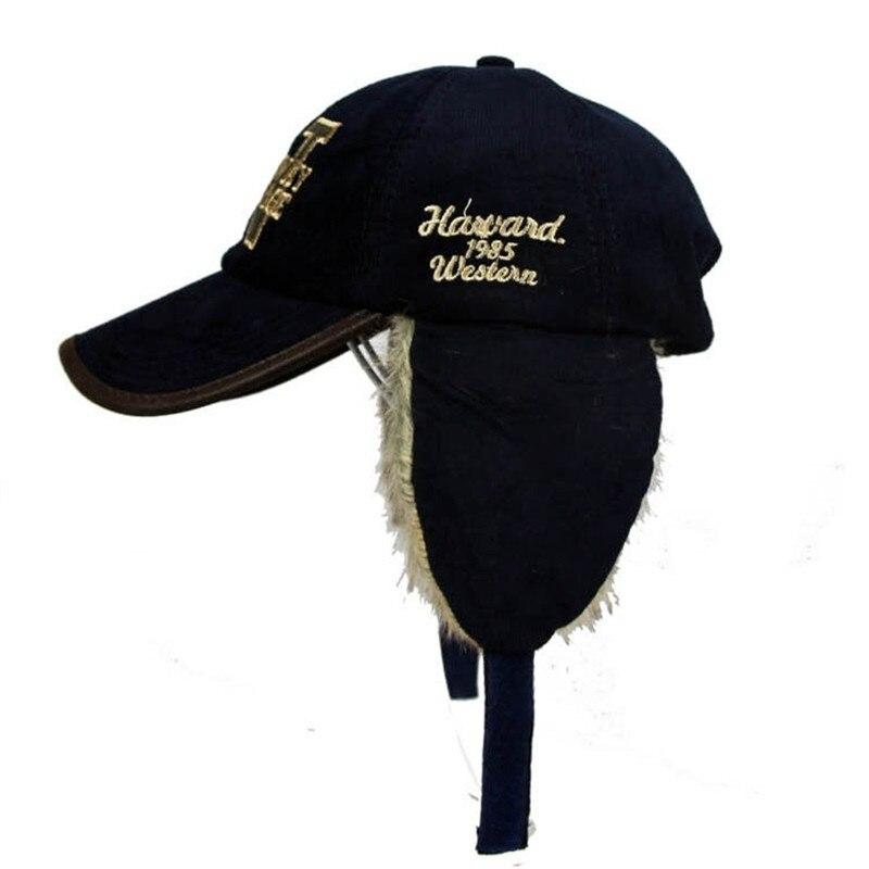 Minhui 2015 New Ear Rabbit Fur Warmers Winter Baseball Caps Female Unisex Winter  Hat Visor Bone Gorras Planas Mens Hats-in Baseball Caps from Apparel ... 87e7209fe6a