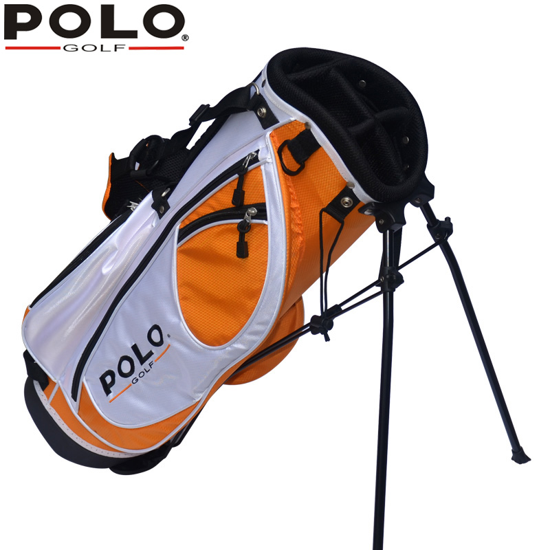 Polo Genuine Golf Cart Bag High Quality Children Support Ball Bag Portable Light Sport Golf Rack Bag 7-8 Clubs Anti-Friction mini golf club set golf ball sport abs golf club for children golf table with flag kids sport game toy nice best gift children