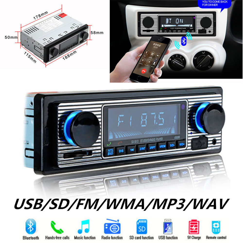Car Radio Retro FM Bluetooth Receiver Radio In Car Radios SX-5513 Auto radio Retro Car Radio Classic 2019 New image