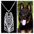 2017 Metal Alloy Belgian Malinois dog necklace German shepherd pendant jewelry Fashion Jewelry For Women Free Shipping