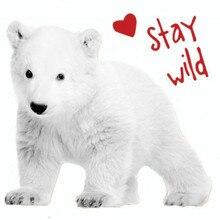 Белый медведь ПВХ патч дело с ним одежда теплопередача печать футболка для женщин гладить на нашивки для одежды девушка наклейки животных