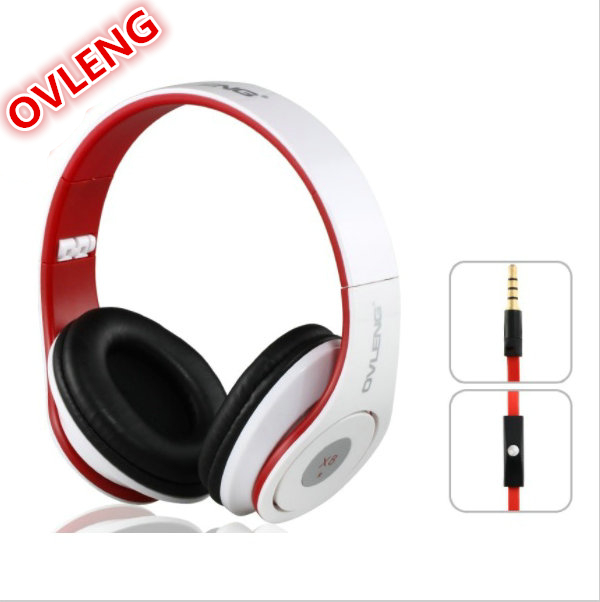 wholesale High quality OV-X8MV HiFi Deep Bass Stereo Wired Headphone Music Headset With Microphone rock y10 stereo headphone earphone microphone stereo bass wired headset for music computer game with mic