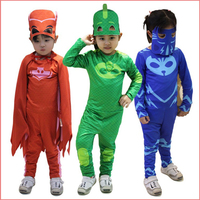 PJ Masks Cosplay Costume Halloween Birthday Party Dress Catboy Owlette Gekko Jumpsuit For Kids