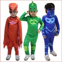 PJ Masks Cosplay Costume Halloween Birthday Party Dress Catboy Owlette Gekko Jumpsuit For Kids