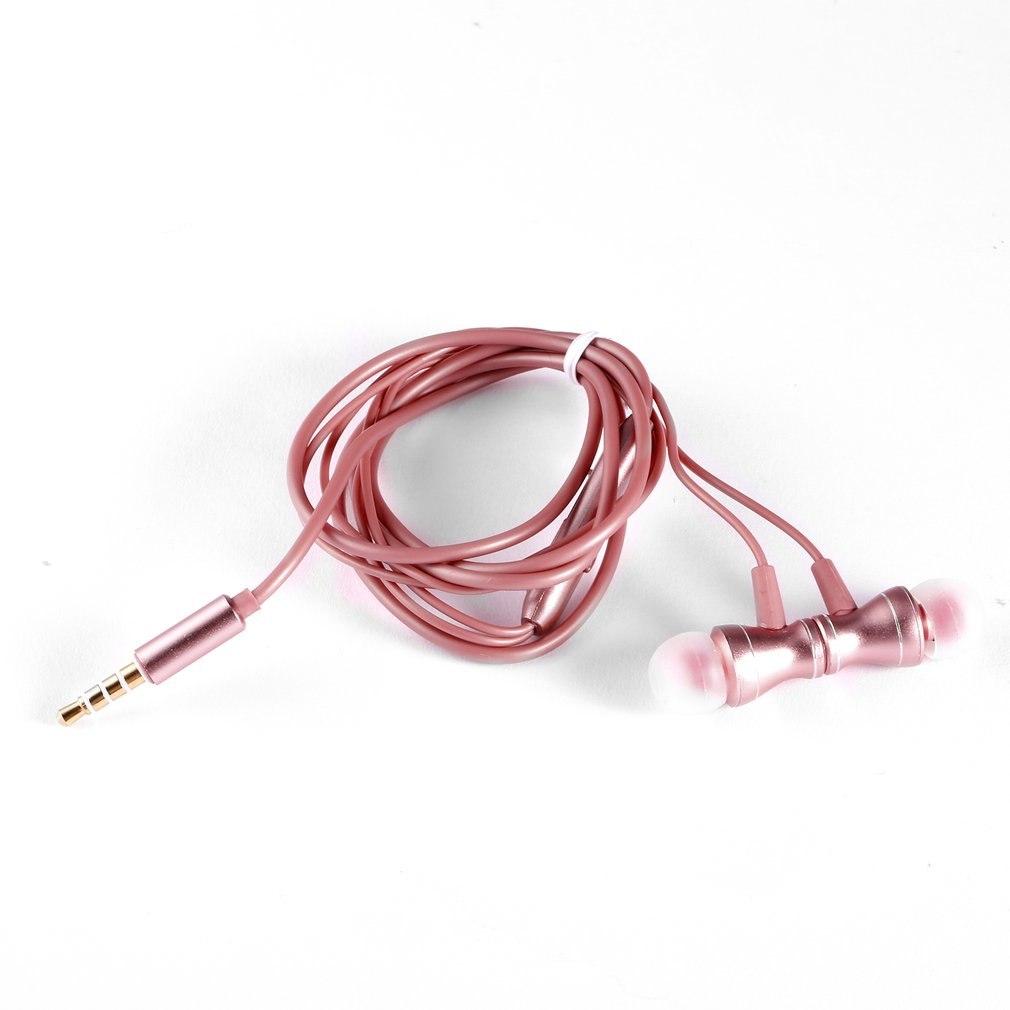 Unviersal Metalen Magneet Wired In Ear Oordopjes 3.5mm Jack Stereo Bass Muziek Sport Oortelefoon Headset Met Microfoon Voor Telefoon Tegen Elke Prijs