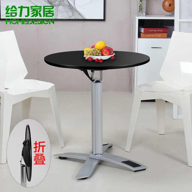 Folding Round Dining Table, A Small Round Table And Discuss Simple Portable  Home Coffee Restaurant