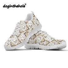 Doginthehole Women Walking Shoes Chihuahua Pattern Outdoor Fitness Sports Ladies Comfortable Nuring Female