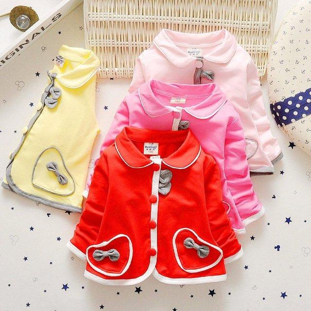 2016 bebé recién nacido ropa de abrigo 100% algodón arco princesa vestido de los niños de la capa 1-2 años de edad de alta calidad envío gratis