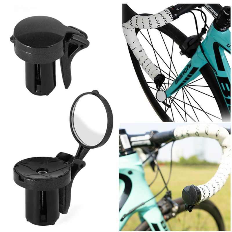 Купить с кэшбэком QILEJVS Bicycle Mirror Mini Rear View Mirror for Road Bike Unbreakable Rotatable Rearview Safety Side Handlebar Mirror