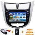 2 din COCHE reproductor de DVD para Hyundai Verna Solaris accent i25 con la navegación del GPS Bluetooth de radio TV iPod 3G/Wifi usb Libre mapa