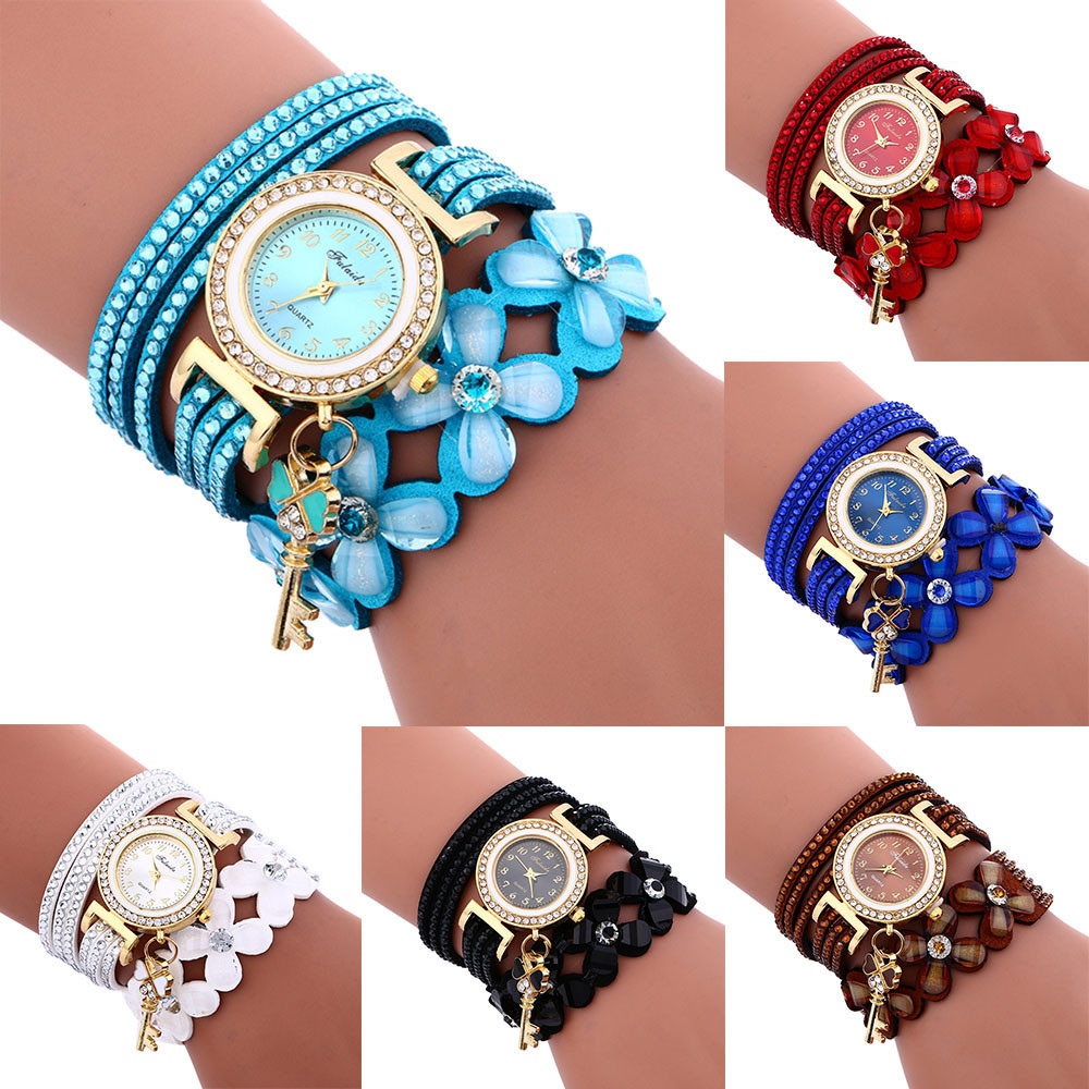 Fashion Diamond Luxury Leather Bracelet Lady Womans Wrist Watch wristwatches relogio feminino women watches 3#1023 rigardu fashion female wrist watch lovers gift leather band alloy case wristwatch women lady quartz watch relogio feminino 25