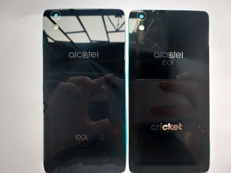 New Glass Battery Door Back Cover Housing Case For Alcatel Onetouch Idol 4 OT 6055 OT6055 OT6055K 6055U With NFCNew Glass Battery Door Back Cover Housing Case For Alcatel Onetouch Idol 4 OT 6055 OT6055 OT6055K 6055U With NFC