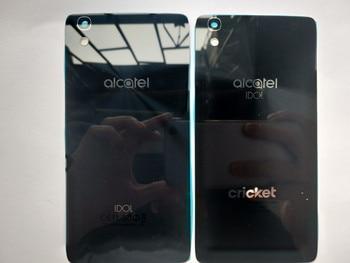 New Glass Battery Door Back Cover Housing Case For Alcatel Onetouch Idol 4  OT 6055 OT6055 OT6055K 6055U With NFC