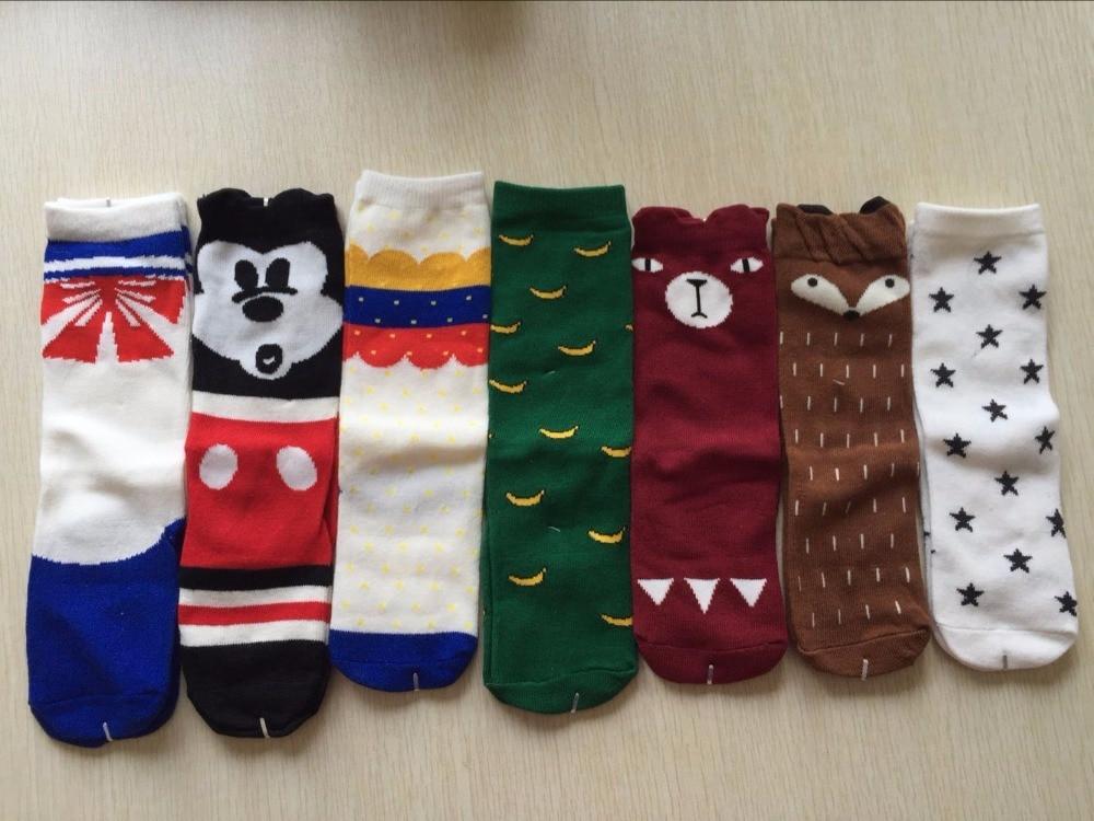 Fashion Cotton Girls Socks Vintage Cartoon Star Fox Kids Socks Newest Long Socks for Baby Girls
