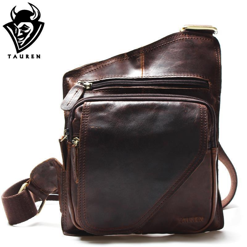 New High Quality Vintage Casual Crazy Horse Leather Genuine s
