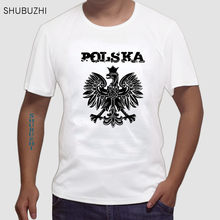 Tee Men Short Sleeve Clothing Brand Short Sleeve T-Shirt Poland Polen Republic Of Poland Pl Shirt casual tshirt euro size sbz519(China)
