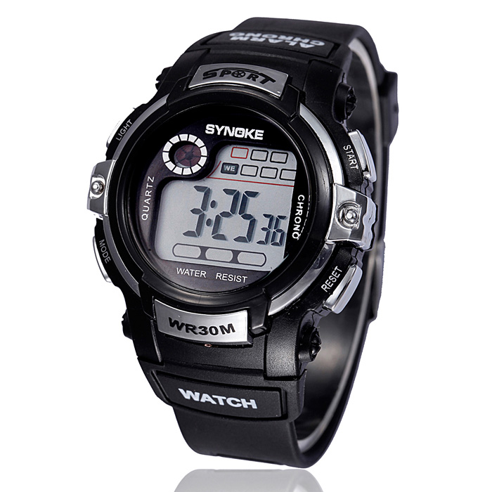 New Waterproof Outdoor Men Watches Fashion Men's Digital LED Quartz Watch Sports Military Alarm Date Wrist Watch Free Shipping