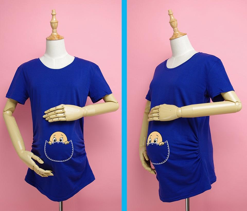 """""""Kieszonkowy dziecko siusiu boo"""" drukuj koszula ciążowa gravida top ciąży odzież tanie Tees Casual plus rozmiar XXL Darmowa wysyłka 10"""