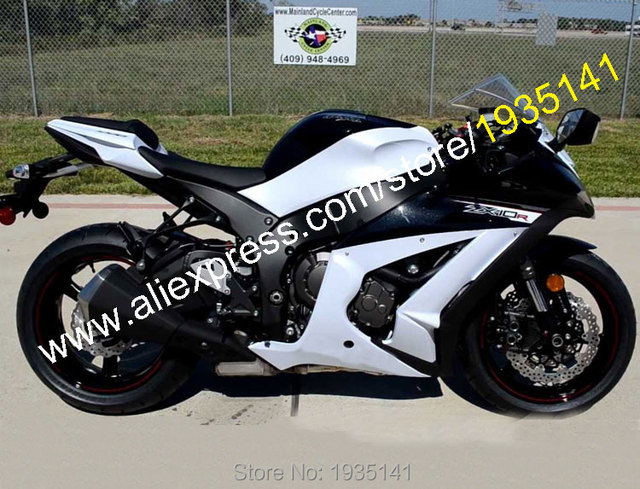 US $350 55 5% OFF|Hot Sales,For Kawasaki Ninja ZX10R Parts 11 15 ZX 10R ZX  10R 2011 2015 White Black Motorcycle Fairing Kit (Injection molding)-in