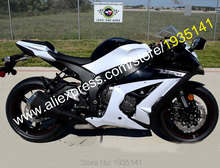 Hot Sales,For Kawasaki Ninja ZX10R Parts 11-15 ZX 10R ZX-10R 2011-2015 White Black Motorcycle Fairing Kit (Injection molding)
