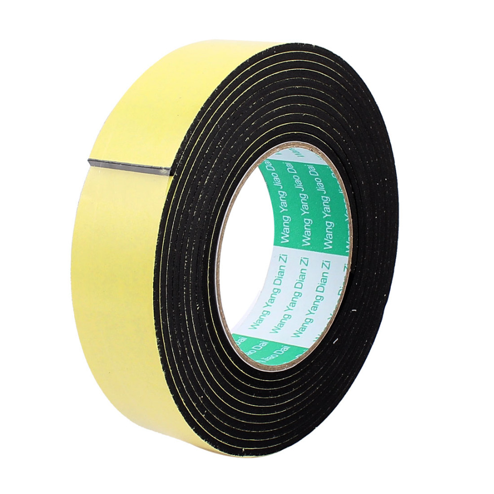 2m Black Single Sided Foam Tape Closed Cell 20mm Wide x 4.5mm Thick