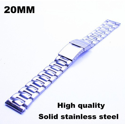 Wholesale - 10PCS/lots High quality 20MM Solid stainless steel Watch strap metal watch bands - 81015q - free shipping | Watchbands