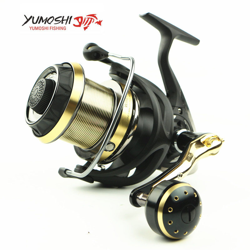 YUMOSHI Spinning Fishing Reel WF4000-9000 Carbon Fiber 10BB 5.1:1 Carp Long Casting Reel Metal Wire Cup Rocker Arm Pesca 3 Kinds