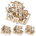 Творческие деревянные игрушки  игра в мраморный ход  сделай сам  водное колесо  горка  деревянные модели  наборы для сборки  игрушки  пазлы  п...