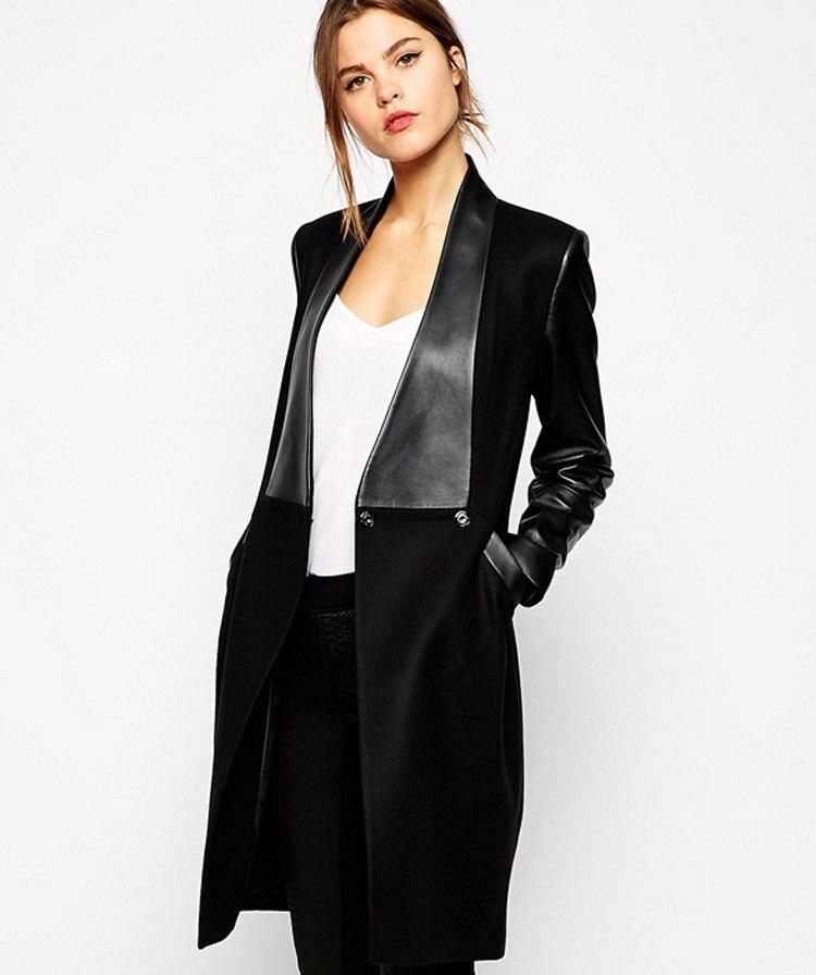 Popular Long Black Coats for Ladies-Buy Cheap Long Black Coats for ...