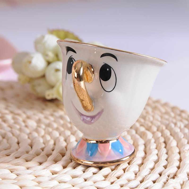 Новый мультфильм Красавица и Чудовище кружка и чайник Миссис Поттс чип чайный горшочек, чашка один набор прекрасный подарок быстрый пост
