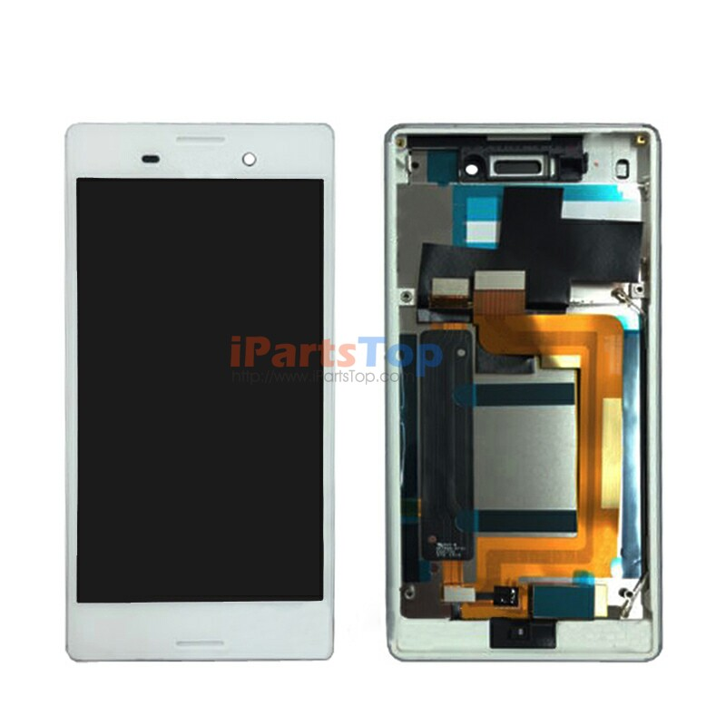 Подробнее о Black White LCD Screen Display Touch Digitizer With Frame Assembly For Sony Xperia M4 Aqua E2303 E2306 E2312 E2333 Dual SIM black white original lcd display digitizer touch screen glass for sony xperia m4 aqua e2303 e2333 e2353 replacement free ship