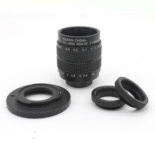Fujian 35mm f/1.7 CCTV camera lens for M4/3 / MFT Mount Camera & Adapter bundle+2 c amout ring  free shipping