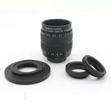 Фуцзянь 35 мм f/1.7 объектив камеры ВИДЕОНАБЛЮДЕНИЯ для M4/3/MFT Крепления Камеры и Адаптер комплект + 2 c amout кольцо бесплатная доставка